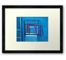 More Frames - Blue Framed Print