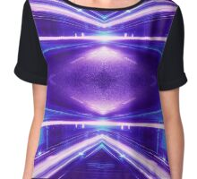 Geometric Street Night Light (HDR Photo Art) Purple Chiffon Top