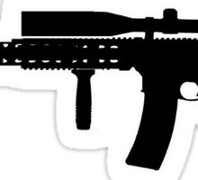 Black guns Sticker