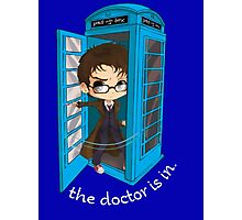 The Doctor Is In The Box Photographic Print