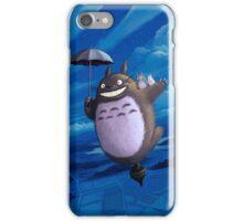 Totoro on his toupie iPhone Case/Skin