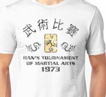 Han's Tournament Inspired enter the dragon Movie black Unisex T-Shirt