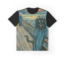 Cat Scream Graphic T-Shirt