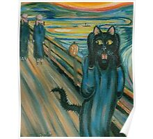 Cat Scream Poster