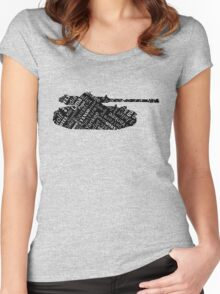 Military Tank Commander Army Phonetic Alphabet Design Women's Fitted Scoop T-Shirt