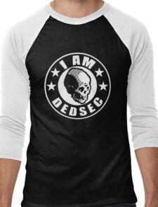 DedsecSkullRoundLogo Men's Baseball ¾ T-Shirt