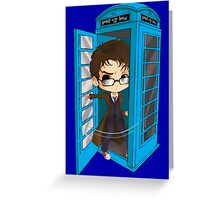 The Doctor Is In The Box Greeting Card