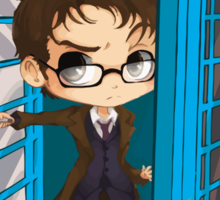 The Doctor Is In The Box Sticker