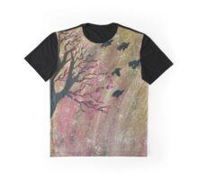 Cherry Blossom Birds Graphic T-Shirt