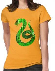 Snake green forest Womens Fitted T-Shirt