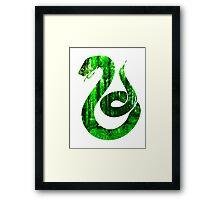 Snake green forest Framed Print