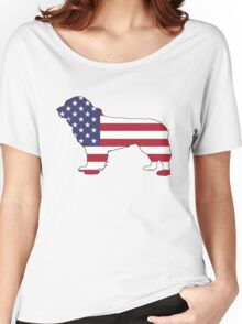 American Flag – Newfoundland Women's Relaxed Fit T-Shirt