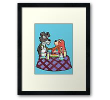 Lady and the Dab Framed Print