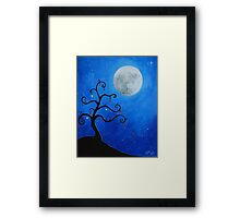 Funky Tree at Christmas Framed Print