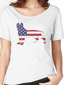 American Flag - Pit Bull Terrier Women's Relaxed Fit T-Shirt