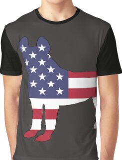 American Flag - Pit Bull Terrier Graphic T-Shirt