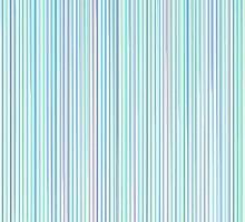 Blue Line Pattern on White Background by amovitania