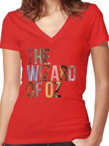 The Wizard of Oz Women's Fitted V-Neck T-Shirt
