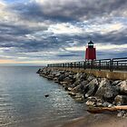 Charlevoix Lighthouse  by Megan Noble