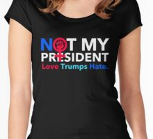 Not My President 2.0 Women's Fitted Scoop T-Shirt