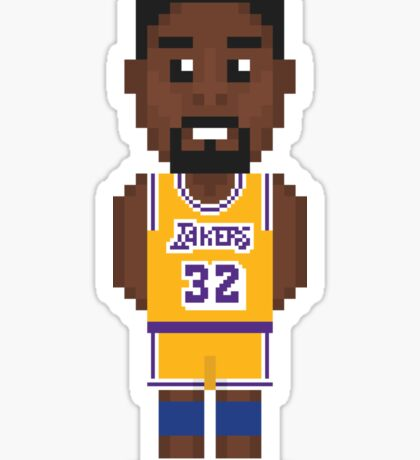 Magic Johnson - Los Angeles Lakers 85' Sticker