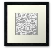 Medical background Framed Print