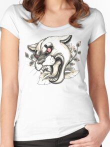 Cougar Tattoo Flash Women's Fitted Scoop T-Shirt