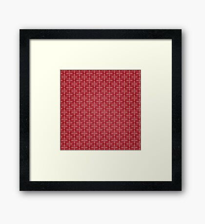 Christmas – Red Snowflakes Framed Print