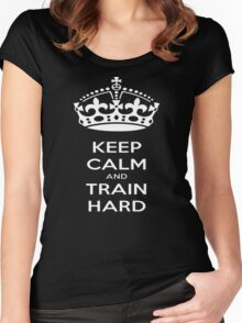 Keep Calm And Train Hard Women's Fitted Scoop T-Shirt