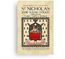 St Nicholas Christmas For Young Folks Canvas Print