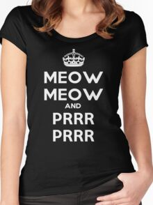 Meow Meow And PRR PRR Women's Fitted Scoop T-Shirt