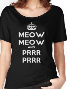 Meow Meow And PRR PRR Women's Relaxed Fit T-Shirt