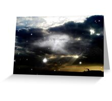 Through the Clouds Greeting Card