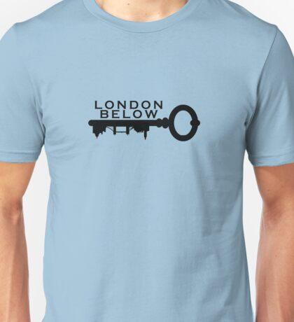 London Below Logo - Black Unisex T-Shirt
