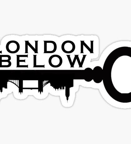 London Below Logo - Black Sticker