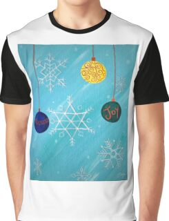Ornaments and Snowflakes Graphic T-Shirt