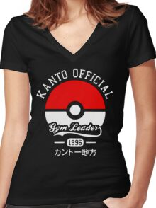 Kanto official gym leader Women's Fitted V-Neck T-Shirt