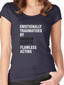 Emotionally traumatised by 03 Women's Fitted Scoop T-Shirt