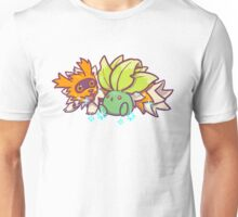 Shiny Zigzagoon and Oddish Unisex T-Shirt