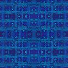 """Blue weave"", seamless geometric pattern in ethnic style  by clipsocallipso"