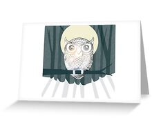 Owl is Calm Greeting Card