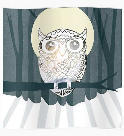 Owl is Calm Poster