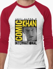 COMIC KHAN  Men's Baseball ¾ T-Shirt