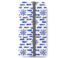Beautiful watercolor snowflakes seamless ornament for christmas winter design iPhone Wallet/Case/Skin