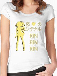 Rin Hoshizora, Koi no Signal RIN RIN RIN! Women's Fitted Scoop T-Shirt
