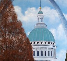 St. Louis Arch by day by John Marcum