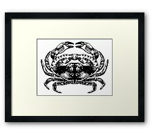 Rorshach Crab  Framed Print
