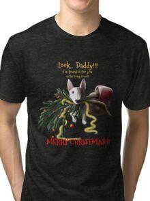 Merry Christmas, Daddy Tri-blend T-Shirt