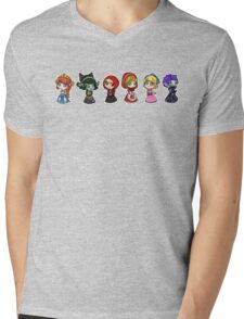 Little Scyllas - All in a Row Mens V-Neck T-Shirt