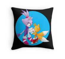 Blaze and Tails Throw Pillow